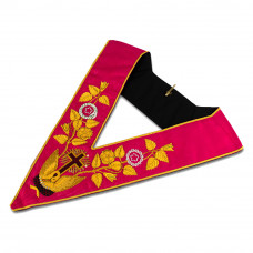 Rose Croix 18th Degree Collar Hand Embroidered