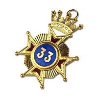 Rose Croix 33rd Degree Star Jewel