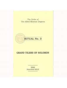 Allied Masonic Degrees Ritual No 3
