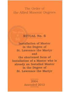 Allied Masonic Degrees Ritual No 6