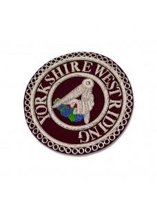 C030 Craft Stewards Badge Crimson & Silver