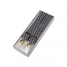 Masonic Braces - Chequered Black & White