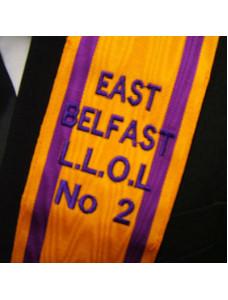 "3"" Orange & Purple Collar - Embroidered"