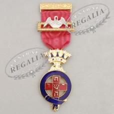 A012 Rose Croix Pmws  Breast Jewel-  Metal Gilt & Enamel