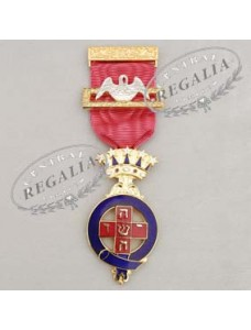A012 Rose Croix Pmws  Breast Jewel-  Metal Gilt & Enamel