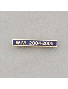 Ribbon Date Bar Gilt Letters On Blue Enamel