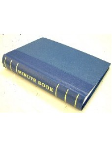 Minute Book 250pp Blue Binding