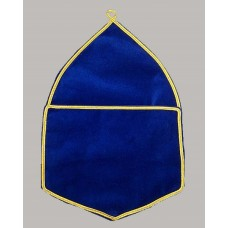 Alms Bags In Blue Velvet - Large  (a4)