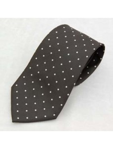 G007 Tie- White Spots On Black