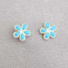 G131 Forget Me Not Earrings 9ct Gold