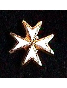 G144 Km Lapel Badge White Maltese Cross
