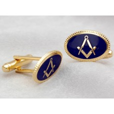 G216 Craft Cuff Links  Oval- Blue