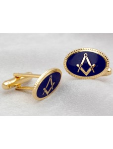 Craft Cuff Links  Oval- Blue