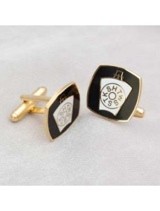Mark Cuff Links Metal Gilt