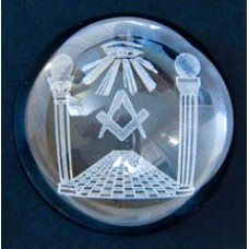 G281 Glass Paperweight With Emblems