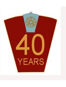 Mark 40 Year Lapel Pin