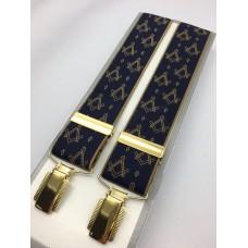 Masonic Braces - S & C  On Blue
