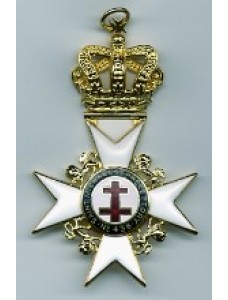 Past Preceptor & Prior's  Collarette Jewel With Preceptory Name & Number