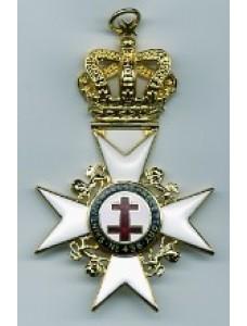 K038 Past Preceptor & Prior's  Collarette Jewel With Preceptory Name & Number