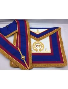 M020 Mark Prov  F/d Apron & Collar (incl Badge) Lambskin  & Pocket