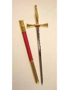 R127 Royal Arch Dagger Red Sheath    Gilt Fittings