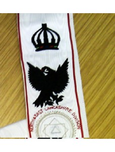 Khs Sash For Divisional Officer    Hand Embriodered (with Crown)