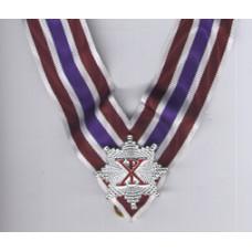 Rcc Knight Grand Cross Collarette White/crimson/purple With Miniature  Star