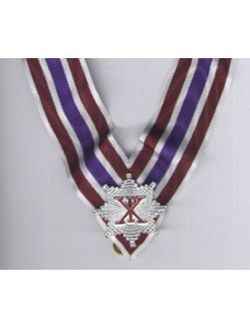 X039 Rcc Knight Grand Cross Collarette White/crimson/purple With Miniature  Star